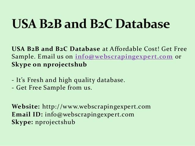 USA B2B and B2C Database