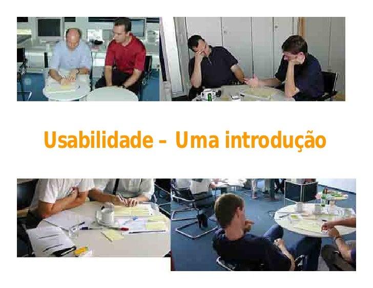Usabilidade - Uma introdução