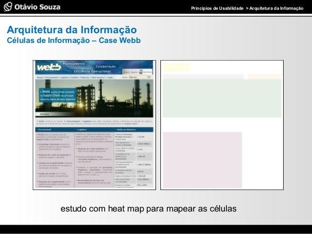 Especialista em Usabilidade e Avaliação de InterfacesPrincípios de Usabilidade > Arquitetura da Informação Arquitetura da ...