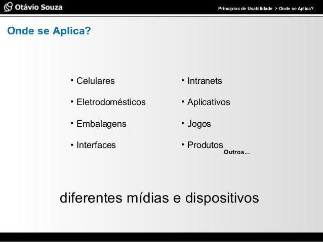Palestra - Princípios de Usabilidade Slide 3