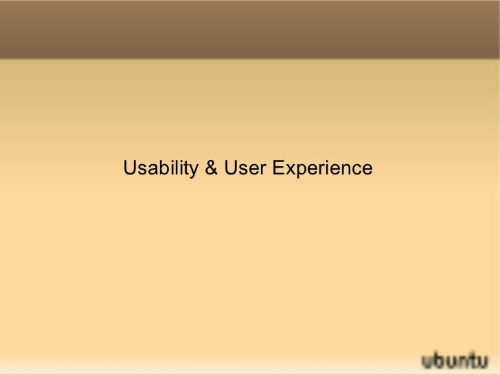 Usability & User Experience