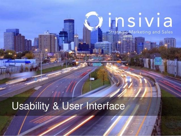 Usability & User Interface