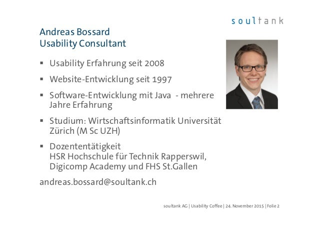 Texten Fürs Web, Usability Coffee Zug, 24.11.2015 Slide 2