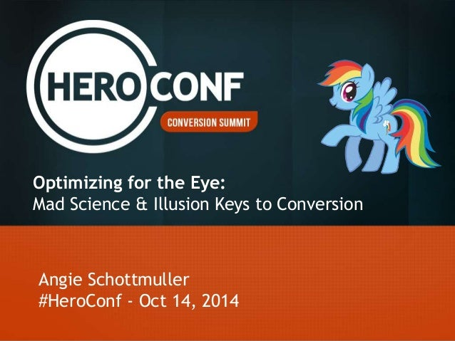 Usability Conversion Optimization for the Eye Slide 2