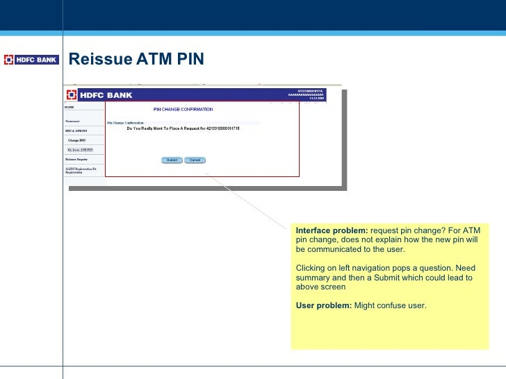 How to change atm pin for hdfc forex card