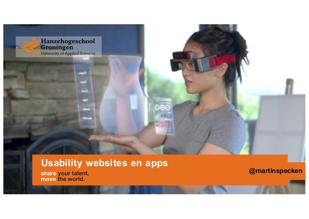 Usability websites en apps @martinspecken