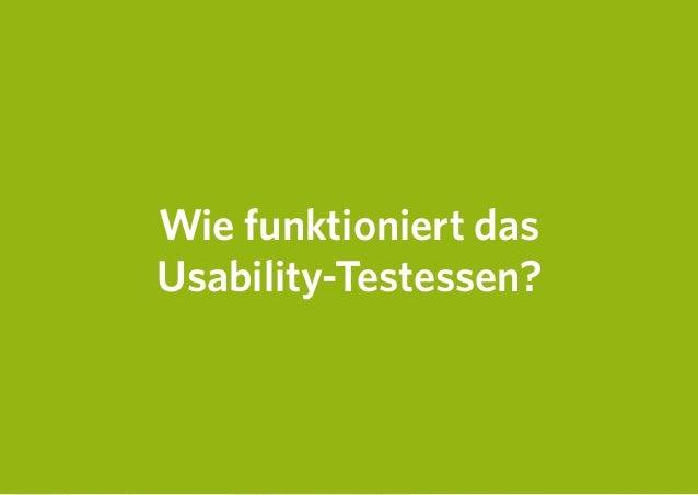 Wie funktioniert das Usability-Testessen?