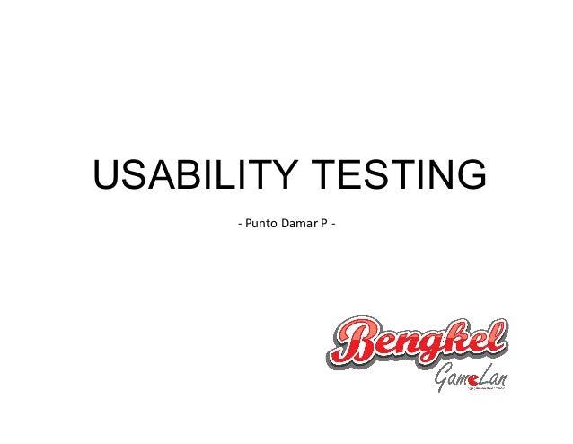 USABILITY TESTING - Punto Damar P -