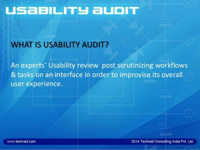 Is Meant for Websites/mobile websites/ mobile applications or any other interface  Is Conducted by Usability Experts and...