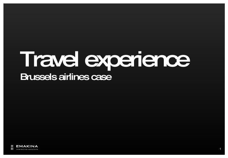 Travel experience  Brussels airlines case