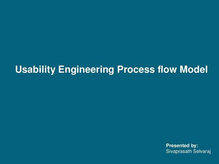 Usability Engineering Process flow Model<br />Presented by: Sivaprasath Selvaraj<br />