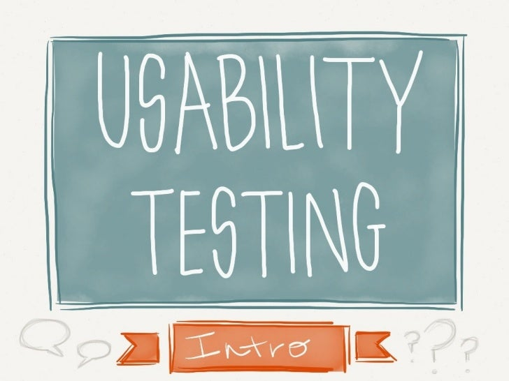 Usability Testing Intro