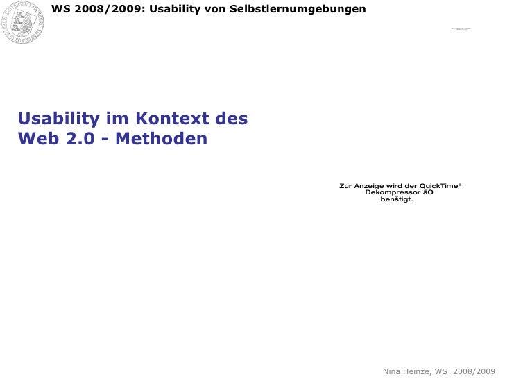 Usability im Kontext des Web 2.0 - Methoden