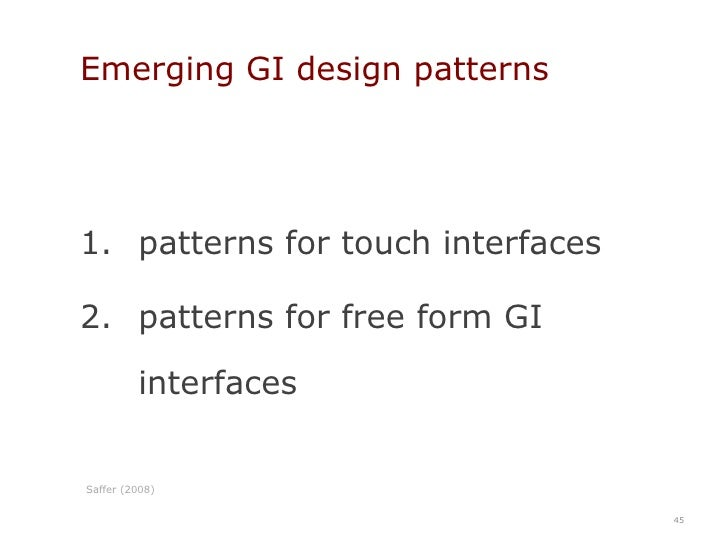 what GIs mean for developers and usability practitioners<br />35<br />