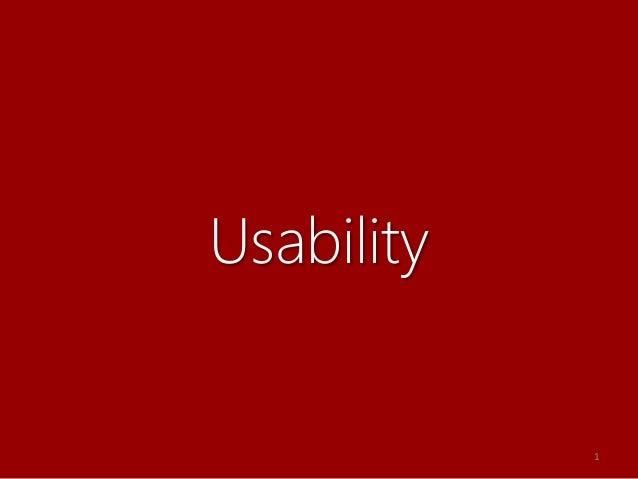 Usability 1