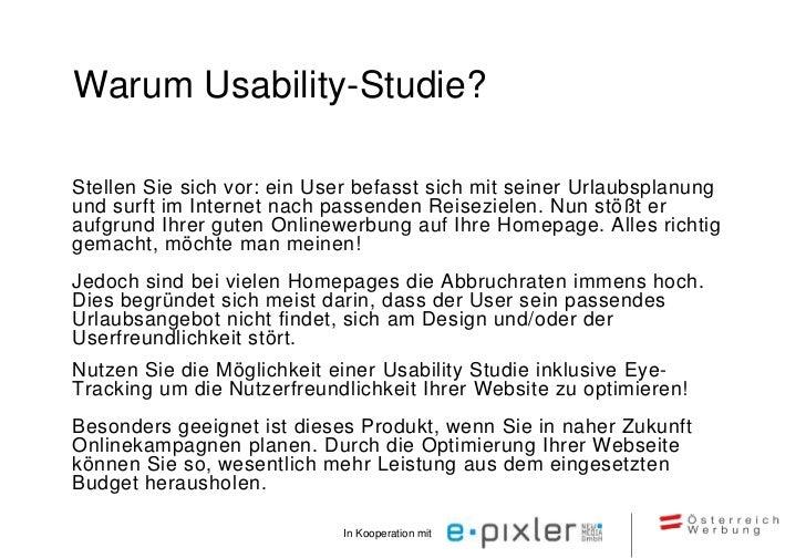 Methoden der Usability-StudieBearbeitung typischer Aufgaben durch Testpersonen    •   Lautes Denken    •   Verhaltensbeoba...