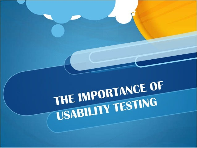 Why Usability Testing A way to find & fix high abandonment and low                   conversions Provides insight into wha...