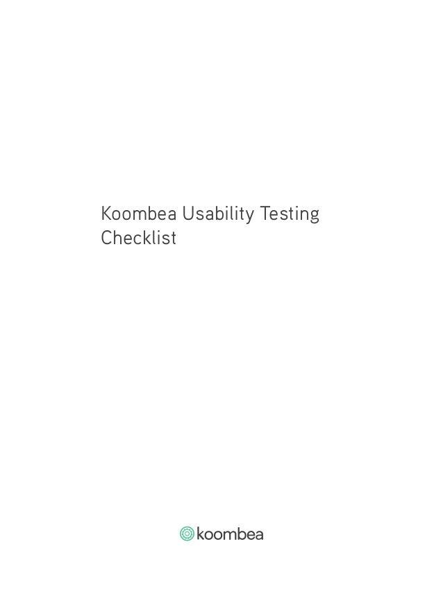 Usability Testing Checklist Slide 2