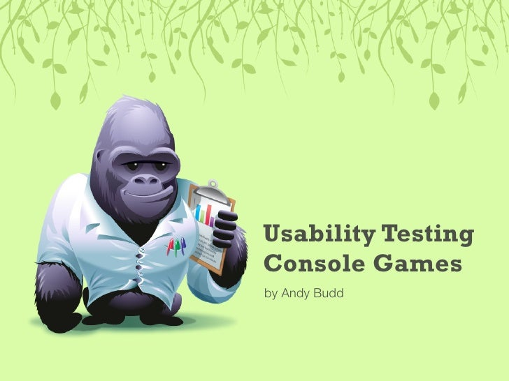 Usability Testing Console Games by Andy Budd