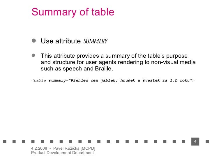 Usable tables in html vxml for Table th scope row