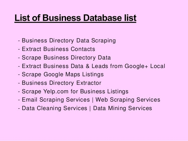 USA Business Directory Database