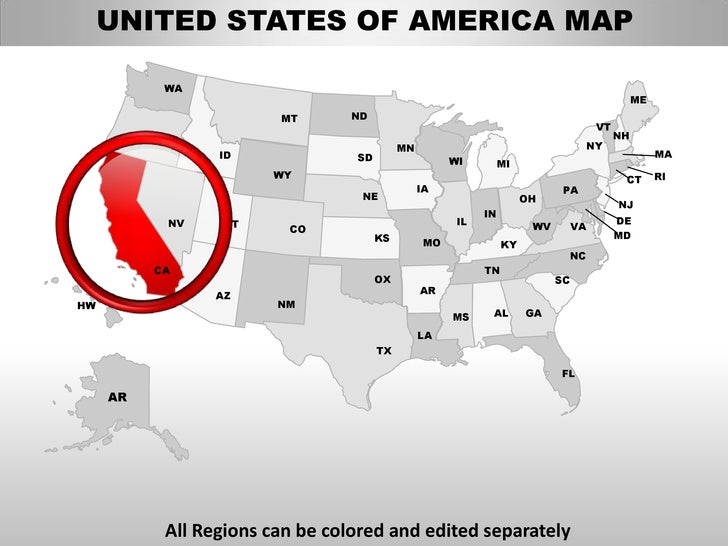 Usa california state powerpoint county editable ppt maps for Oregon state powerpoint template