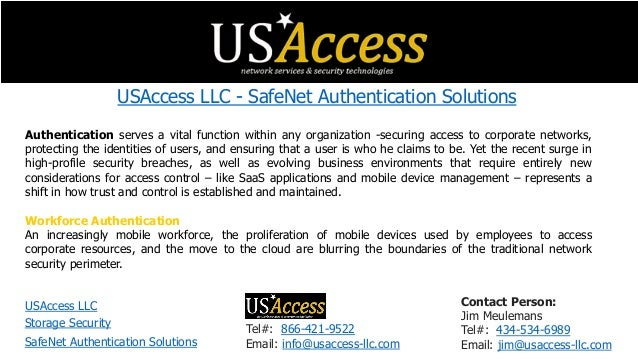 USAccess LLC - SafeNet Authentication Solutions