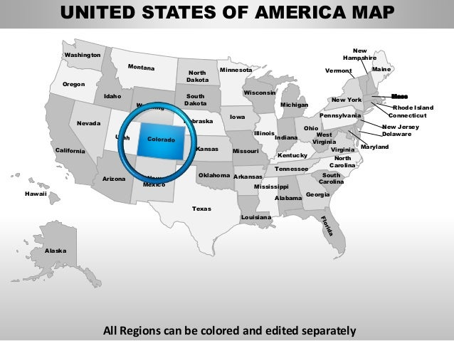 All Regions can be colored and edited separately Washington North Dakota Oregon Idaho South Dakota Minnesota Nebraska Iowa...