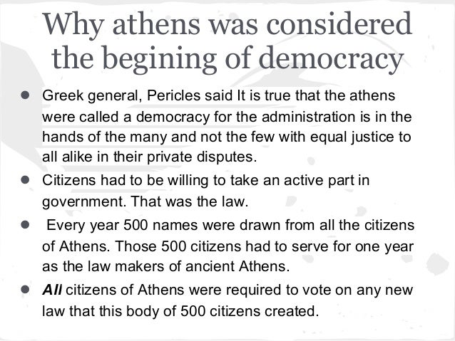 Death of Democracy? - Part II