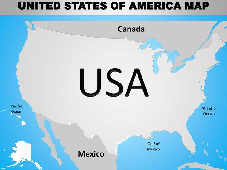 Usa Country Editable Powerpoint Maps With States And Counties - Us map and oceans