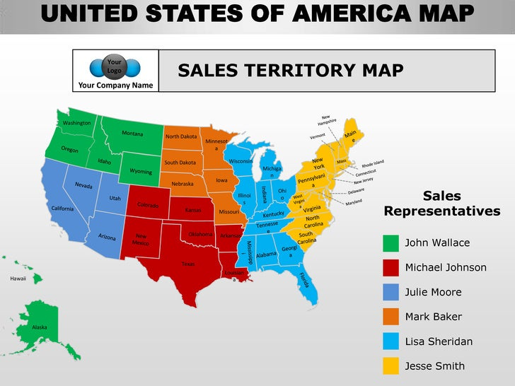 Usa Country Editable Powerpoint Maps With States And Counties - Us counties sales map