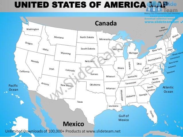 Us Map Atlantic Ocean: Map Usa Oceans At Slyspyder.com
