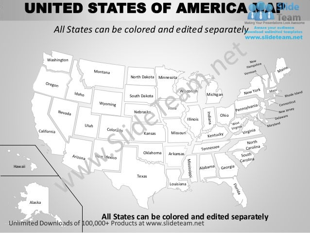 Usa Country Editable Powerpoint Maps With States And Counties Templat - Us map that can be edited
