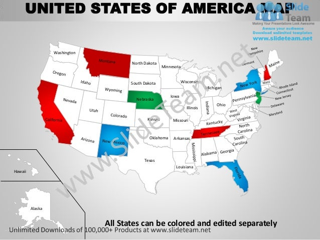 Free Customcolored Maps Of The Us States Canada Mexico Study: Map Of The Us That Can Be Edited At Usa Maps