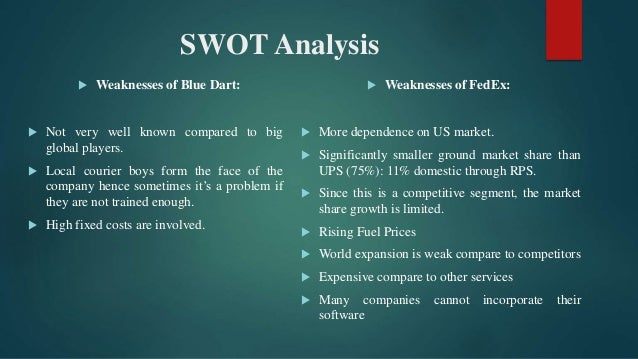 swot analysis of blue dart Technavio's report, the warehousing market in india 2014-2018, has been prepared based on an in-depth market analysis with inputs from industry experts it also covers the warehousing market in india market landscape and its growth prospects in the coming years.