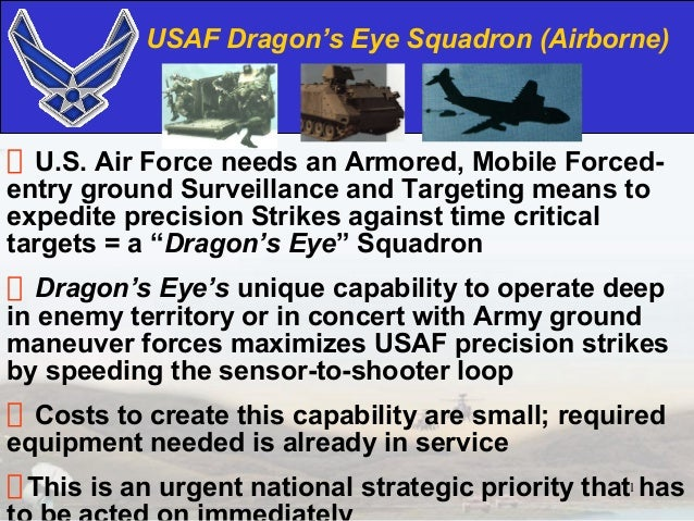 USAF Dragon's Eye Squadron (Airborne)  U.S. Air Force needs an Armored, Mobile Forced-entry ground Surveillance and Target...