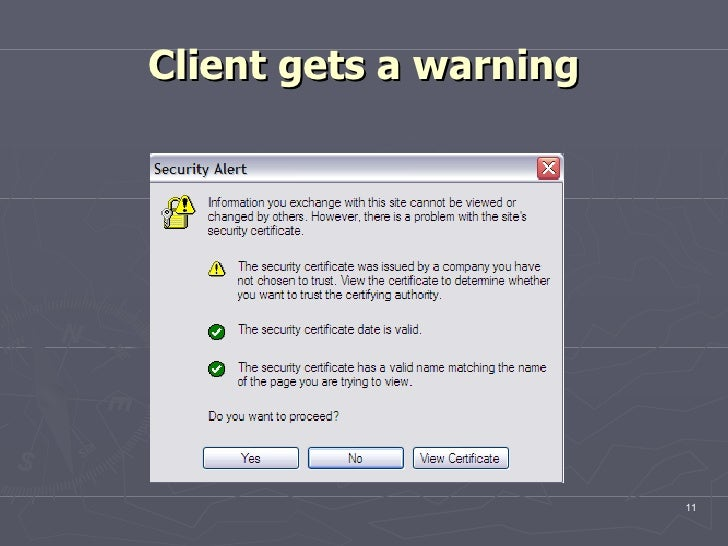 Client gets a warning