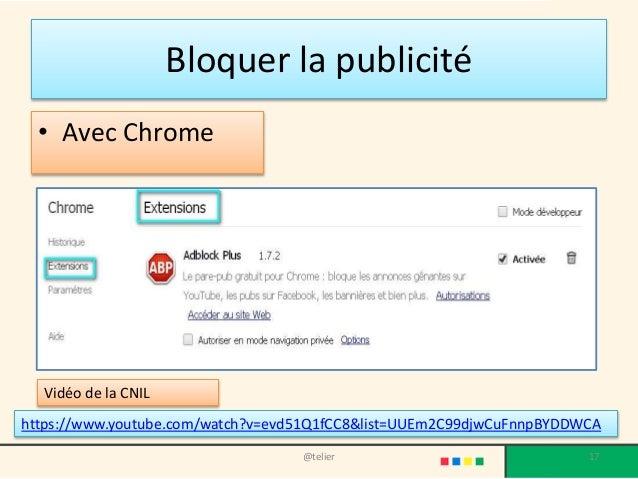 Usages avanc s chrome for Bloquer fenetre publicitaire chrome