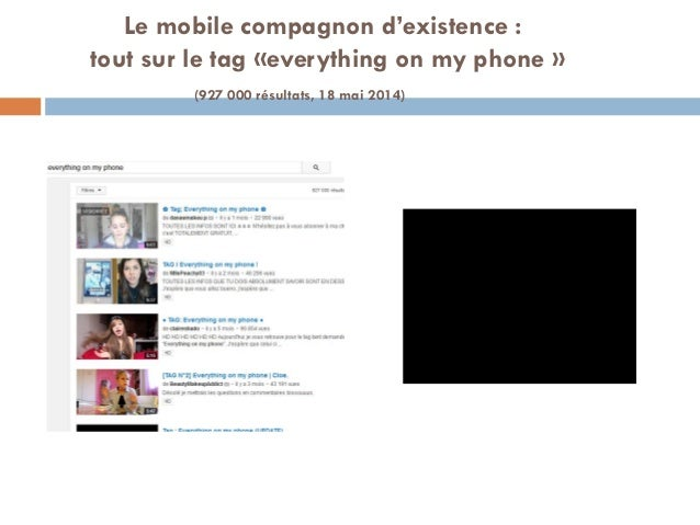Le mobile compagnon d'existence : tout sur le tag «everything on my phone » (927 000 résultats, 18 mai 2014)