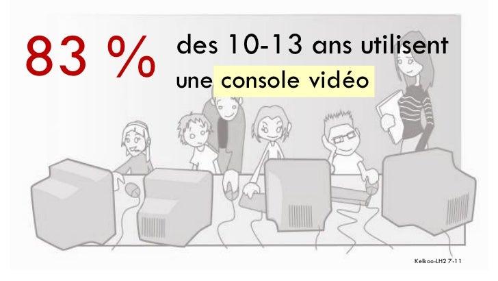 83 %   des 10-13 ans utilisent       une console vidéo                           Kelkoo-LH2 7-11