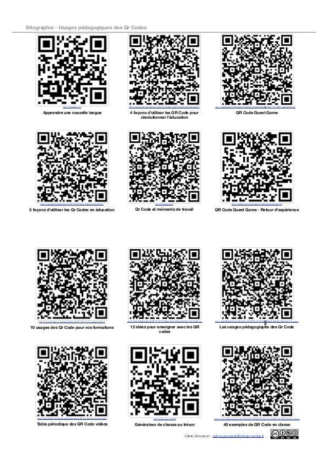 usages p u00e9dagogiques des qr codes en enseignement sup u00e9rieur