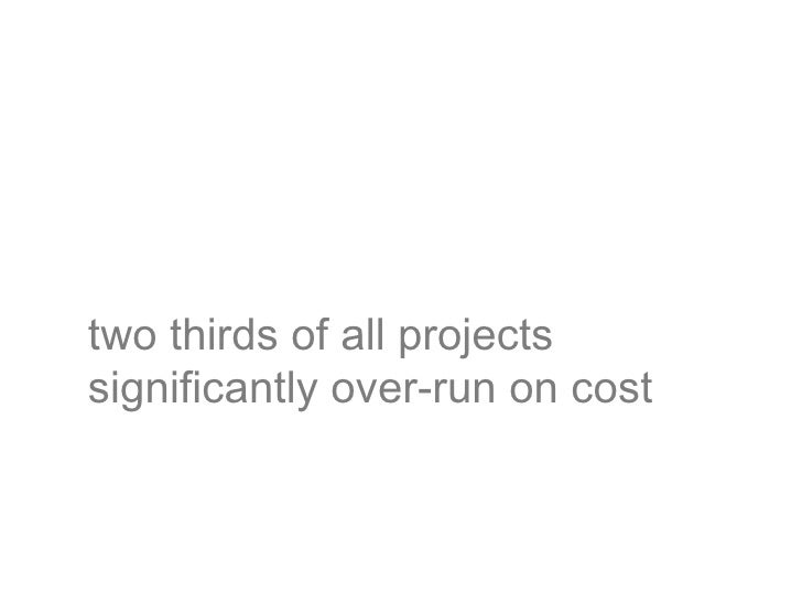 the average project exceeds itsschedule by 100%
