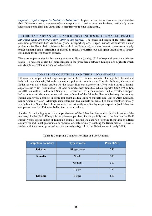 16 Importers require responsive business relationships. Importers from various countries reported that their Ethiopian cou...