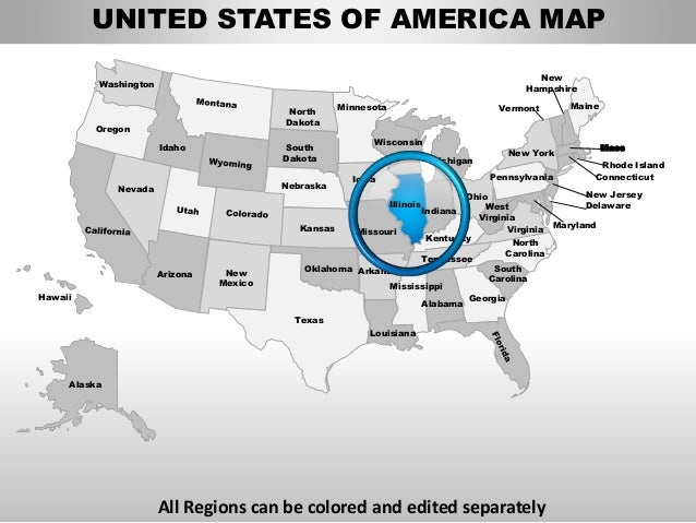 Usa illinois state powerpoint county editable ppt maps and for Oregon state powerpoint template