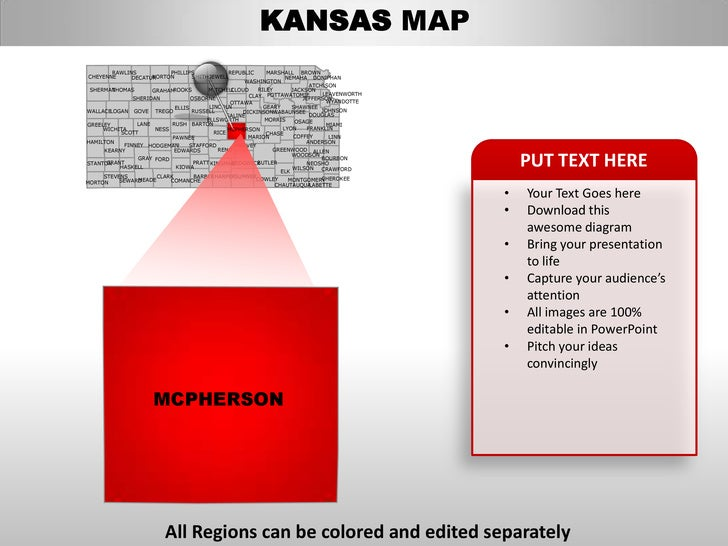 usa kansas state powerpoint county editable ppt maps and templates. Black Bedroom Furniture Sets. Home Design Ideas