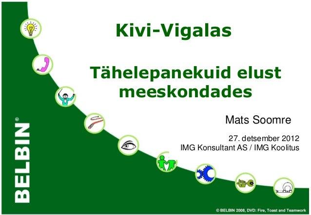 Kivi-VigalasTähelepanekuid elust   meeskondades                     Mats Soomre                     27. detsember 2012    ...