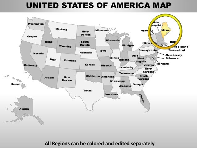 Usa maine state powerpoint county editable ppt maps and ...