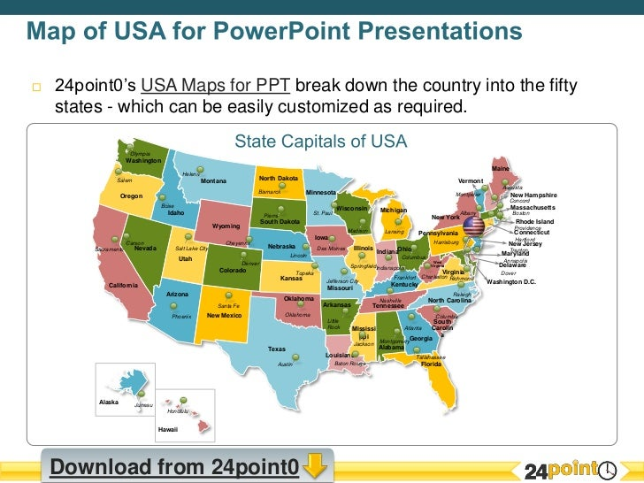 Customizable USA Map PPT Presentation