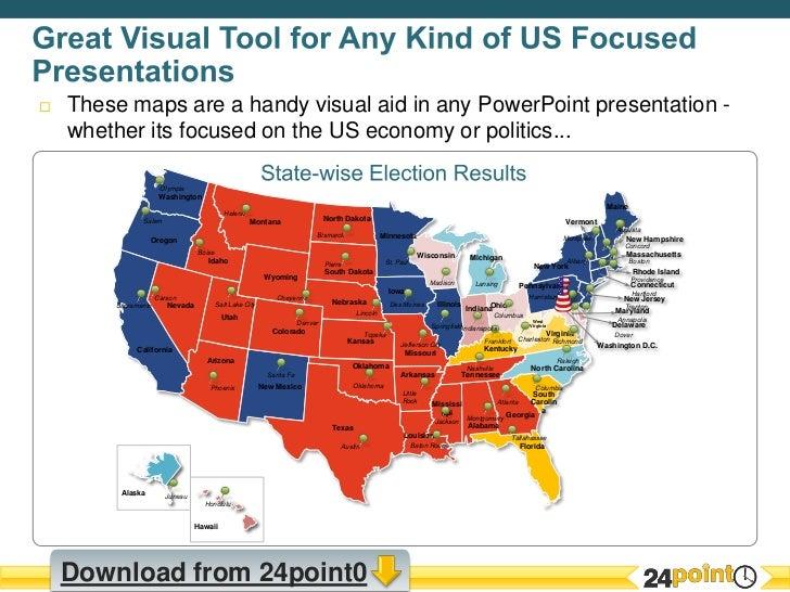 Customizable USA Map PPT Presentation