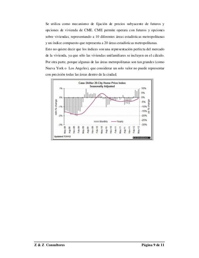 Se utiliza como mecanismo de fijación de precios subyacente de futuros y      opciones de vivienda de CME. CME permite ope...